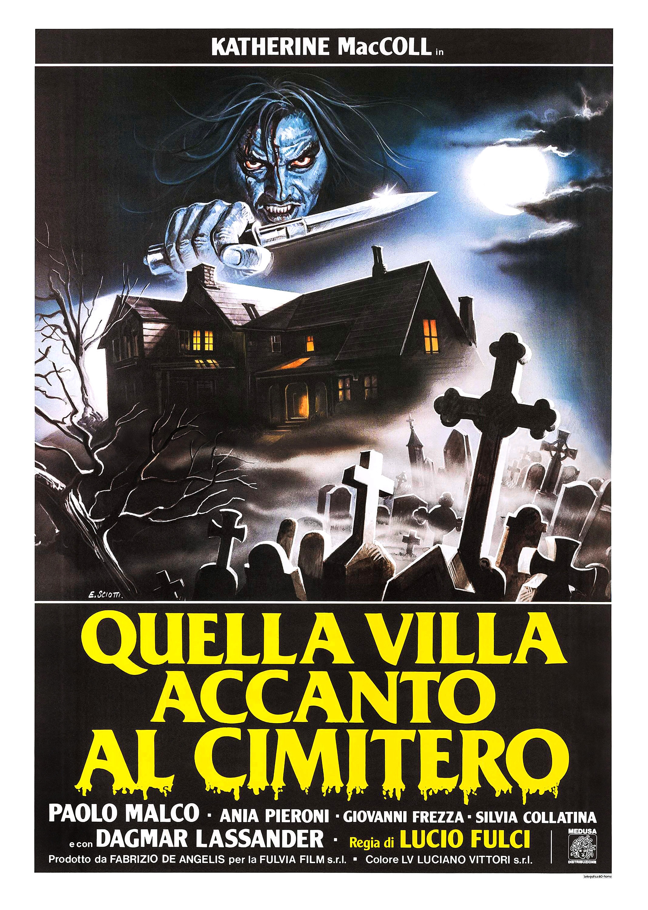 The House by the Cemetery Italian poster