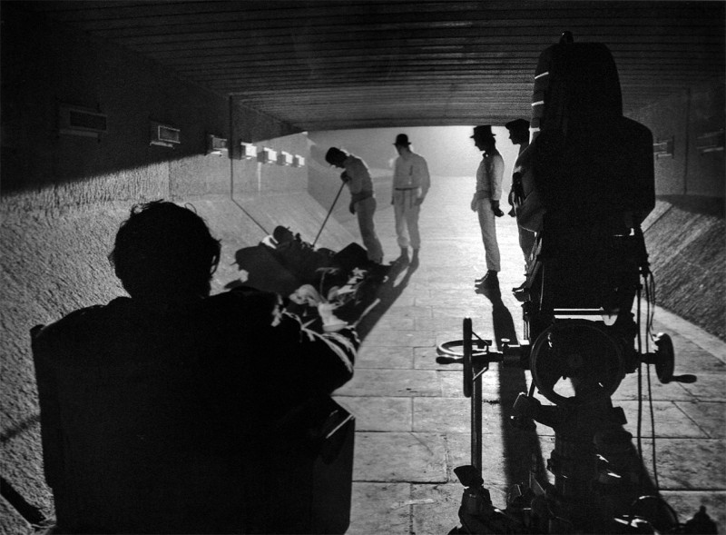 a clockwork orange kubrick shoots the droogs