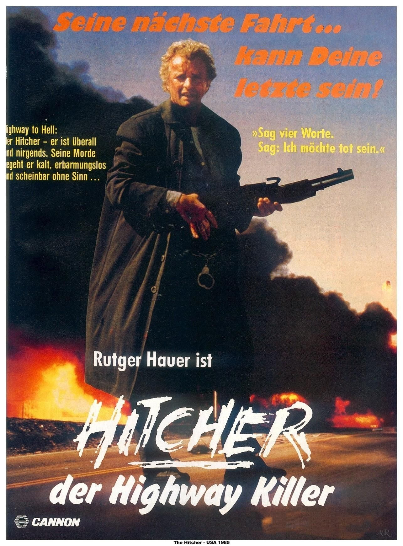 The Hitcher German poster