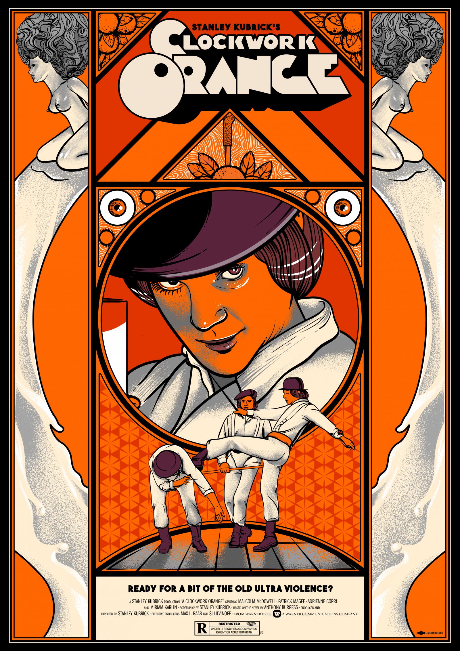 A Clockwork Orange poster Liza Shumskaya