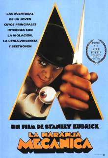 A Clockwork Orange Spanish poster