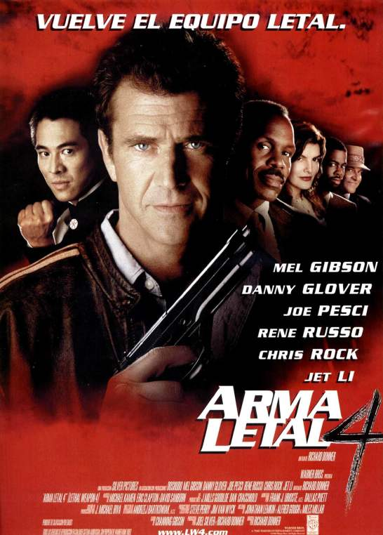 Lethal Weapon 4 Spanish poster