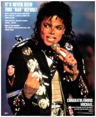 Michael Jackson Bad record sales