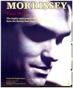 Morrissey Viva Hate ad