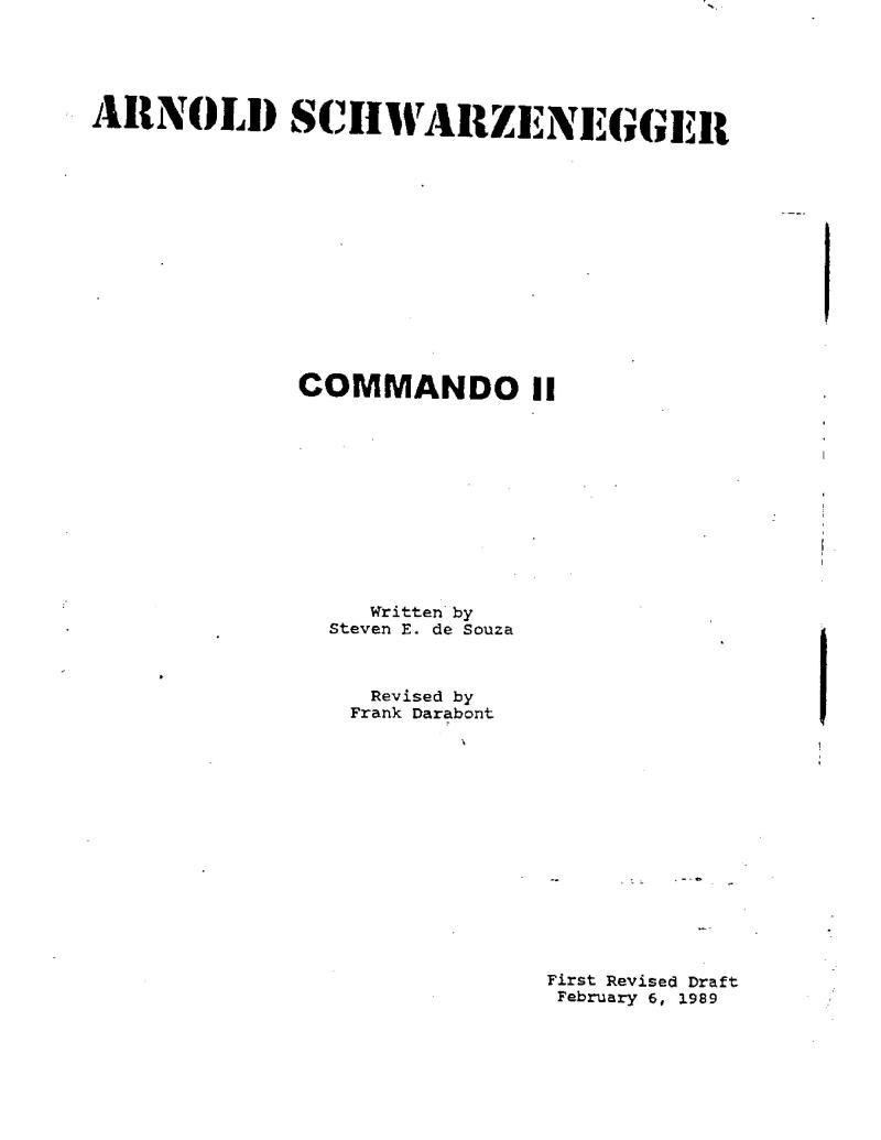 Commando II screenplay
