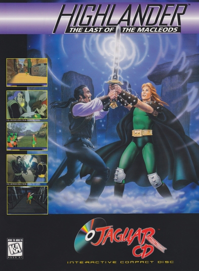 Highlander Atari Jaguar CD