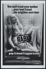 Rabid black and white poster