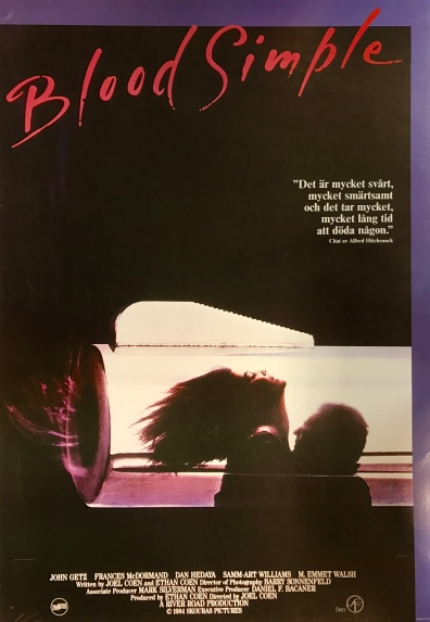 Blood Simple Swedish poster