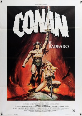 Conan the Barbarian Italian poster