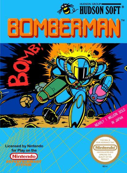 Bomberman NES cover